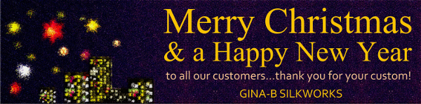 Merry Christmas from Gina-B Silkworks
