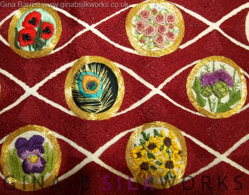 Embroidery sampler by Gina Barrett