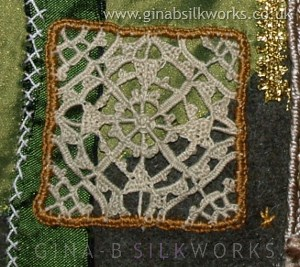 Gina-B Journal needlelace detail