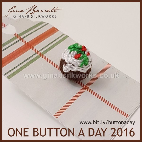 Day 358: Figgy Pudding #onebuttonaday by Gina Barrett