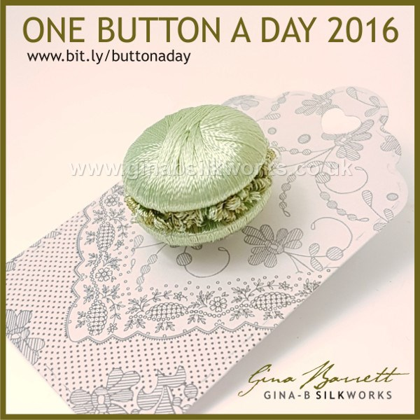 Day 363: Macaron #onebuttonaday by Gina Barrett