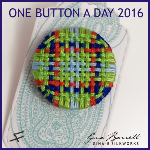 Day 4: Tartan #onebuttonaday by Gina Barrett