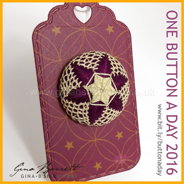 Day 14: Lace Star #onebuttonaday by Gina Barrett