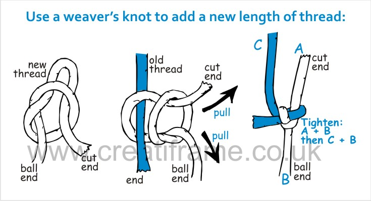 How to tie a weaver's knot